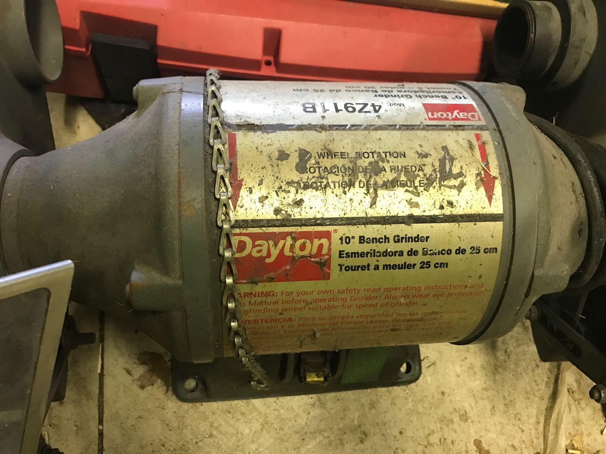 Incredible Dayton 10 Inch Bench Grinder Model 4Z911B Powers On Andrewgaddart Wooden Chair Designs For Living Room Andrewgaddartcom