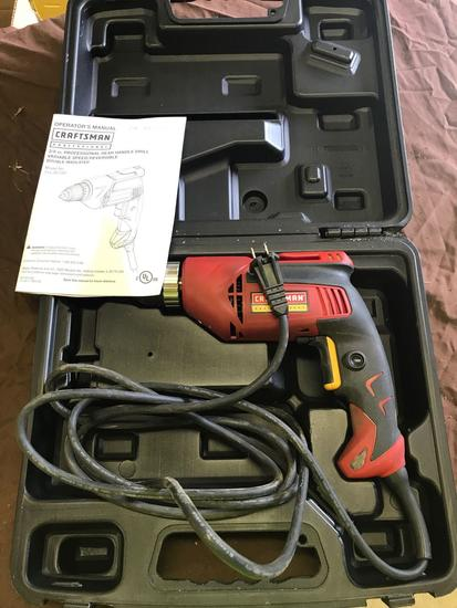 Craftsman Electric Drill, with case, in working condition