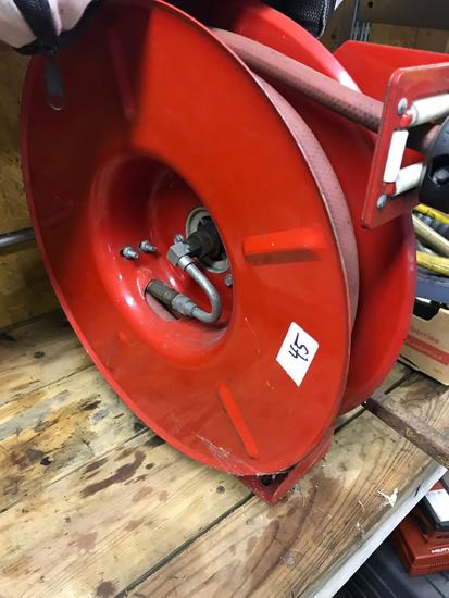 Hose reel, needs new end installed
