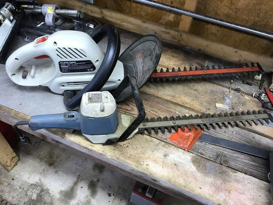 Lot of 2 Hedge Trimmers, both power on