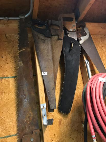 4 Hand Saws, various styles, hoses not included
