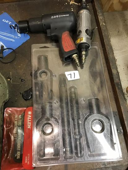 Various lot includes 2 pneumatic tools and more