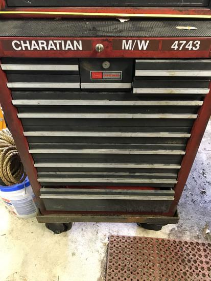 Craftsman Bottom Box, with contents, WITH KEY, 26 wide, 43 tall, many good tools in this lot