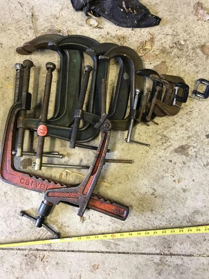 Lot of misc C Clamps, various sizes