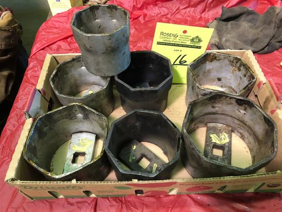 Lot of 3?4 large sockets ranging from 3 1/4 inch to 4 13/16 inch.