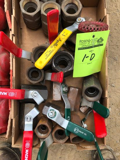 Lot of (16) various New assorted valves.