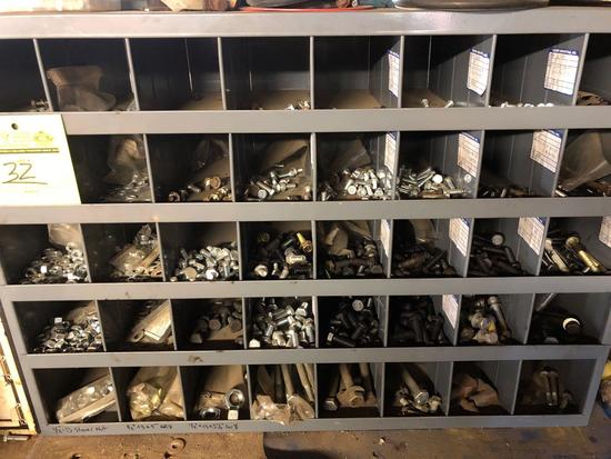 40 compartment steel hardware sorter w/contents