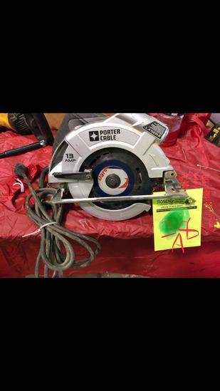 Porter Cable 13am circular saw. Working laser.