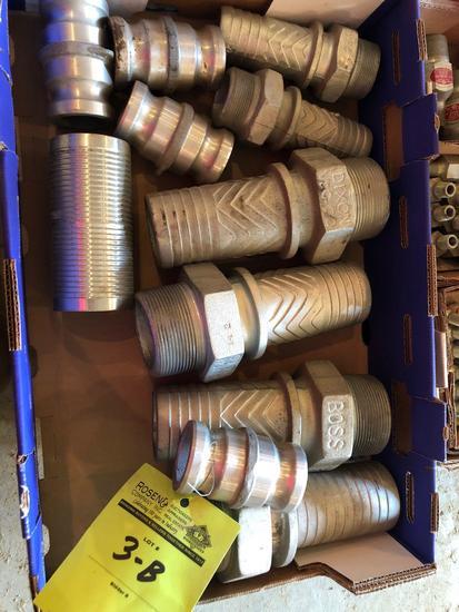1 lot of various larger hose barbs