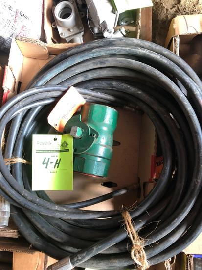 New Hydraulic hoses and (1) New 3 in Demco Ball Valve