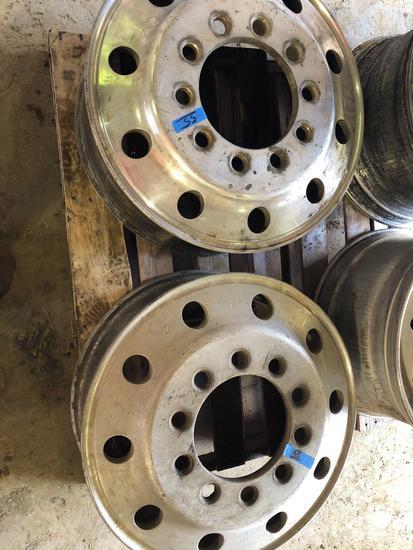 Lot of (2) ALCOA 24.5 x 8.25 aluminum rims