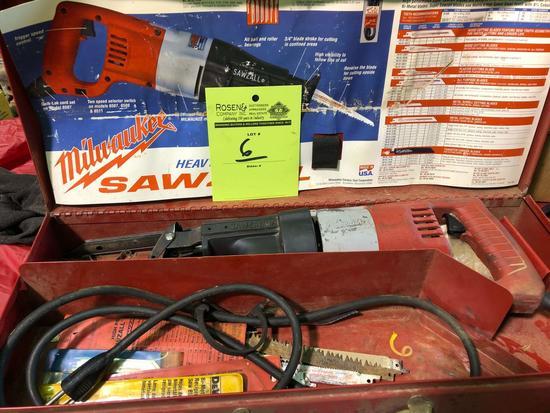 Milwaukee sawzaw with case.