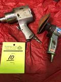 (1) Cambell Hausfeld 3/4 inch air impact & (1) Cambell Hausfeld high speed sander.