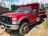 2008 Ford F-450 Power Stroke Diesel 4x4 Dump Truck *ONLY 44,XXX MILES!* Western Plow Included!