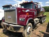 1992 Mack Super Liner RW713 Triple Axle 80 Barrel Water/Brine Hauling Tractor