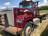 1984 Mack Super Liner RES788LST Winch Truck w Rolling Tailboard