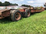 1978 Fruehauf Lowboy Equipment trailer.