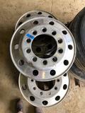 Set of (3) 22.5 x 8.25 aluminum rims