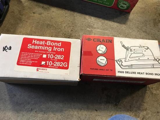 2 Heat Bond Seaming Irons, in box