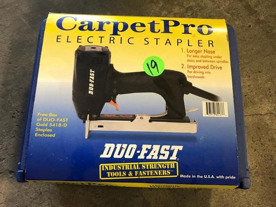 Carpet Pro Electric Stapler