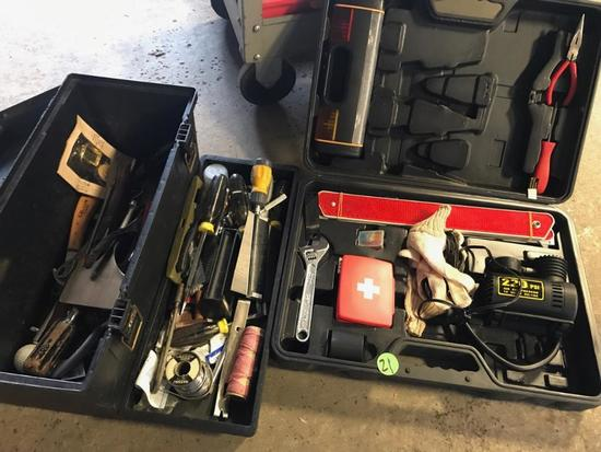 Partial tool kit, and toolbox with misc tools