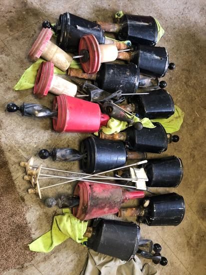 Bulk Lot of Lesco ball washers and 4 cup markers