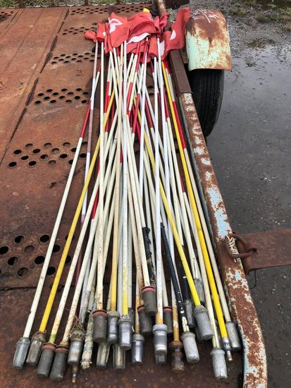 Large Lot of Hole Marker poles and flags.