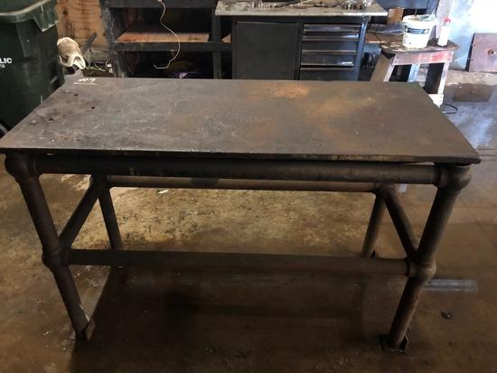 Solid steel welding/work bench