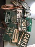 Vintage original cart path signs, cart flags, hole markers, and more.