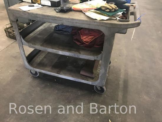 Fiberglass cart on casters