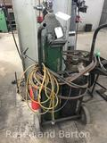 Oxygen Acetylene torch set with cart, and Harris Gauges