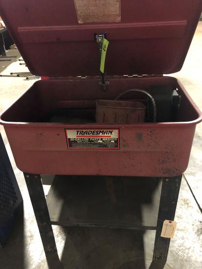 Tradesman 20 gal parts washer #8700