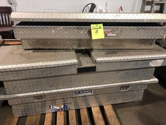Lot of (3) good truck tool boxes