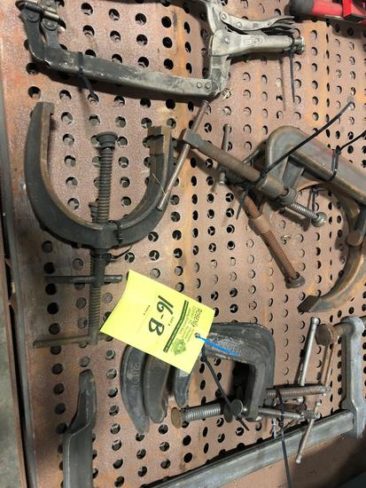 1 lot of approx (12) misc clamps and pullers