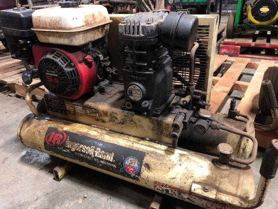 Ingersoll-Rand horizontal dual tank gas powered air compressor