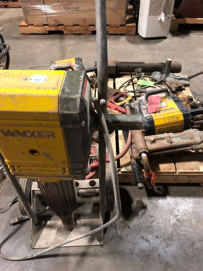 Group lot of various jack hammers and parts