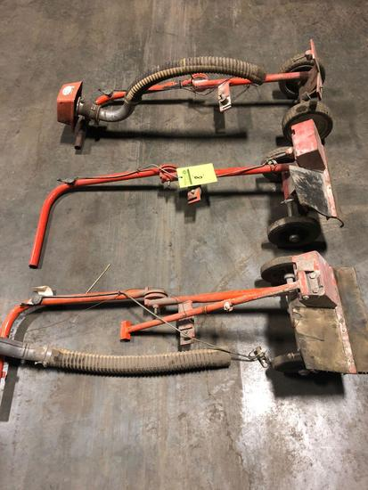 1 lot of (3) Stihl cut off saw walk behind stands