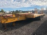 1993 Butler 8' x 19.5' total length (4' dove tail) tandem dually equipment trailer. HD steel ramps