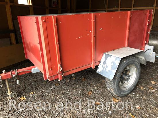 Single axle 5000 lb cap utility trailer.