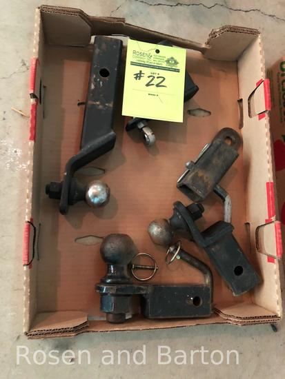 1 lot of various hitches and pins for JD