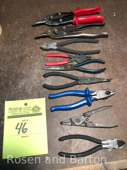 1 lot of approx (9) various cutting tools etc
