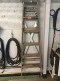 6 foot wooden stepladder