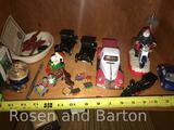 Various Knick Knack items, Santa, Snoopy and more