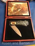 Folding Train Display Knife with box