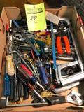 Bulk lot of misc hand tools. Screwdrivers, saws, but drivers etc