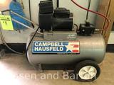 Cambell Hausfeld 4hp, 20 gallon horizontal air compressor.