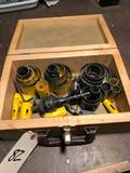 Good group lot of various hole saw bits