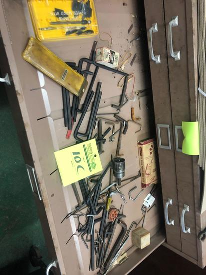 Drawer load of hex head wrenches and other misc