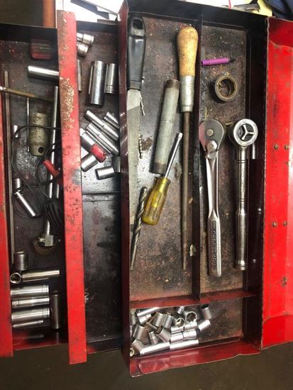 Vintage Snap-On Toolbox w/ various sockets and tools