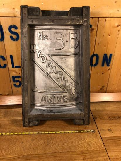 Vintage Industrial Salvaged Mold Wall Hanging